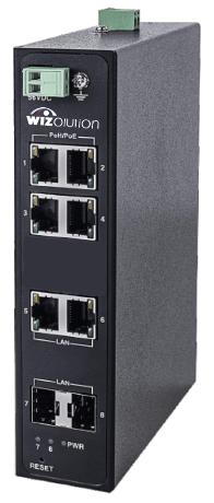 Промышленный 4x 95W PoE + 2x SFP + 2x RJ45 коммутатор WZHN-SW.04.PE.240.0