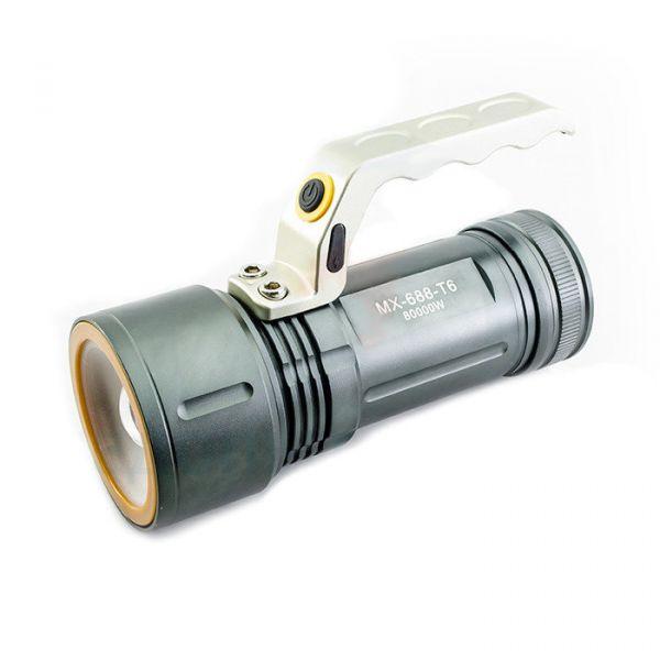Фонарь ручной акrумуляторный MX-KK-688-T6
