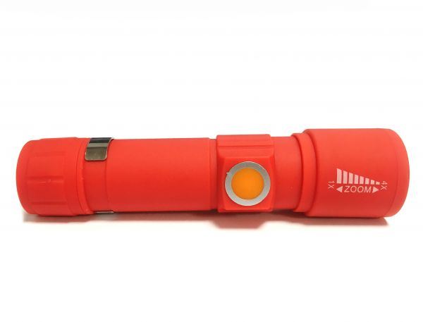 Светодиодный аккумуляторный фонарь USB ZOOM Universal Powerful 4X