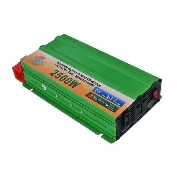 Автомобильный инвертор Солнце 2500W 12V-220V