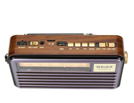 Радиоприемник Meier M-521BT-S c солнечной панелью