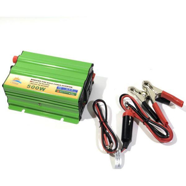 Автомобильный инвертор Солнце 500W 12V-220V