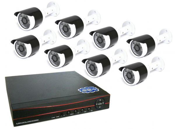 8-ми канальный уличный комплект видеонаблюдения XPX 3908 AHD 2Mp