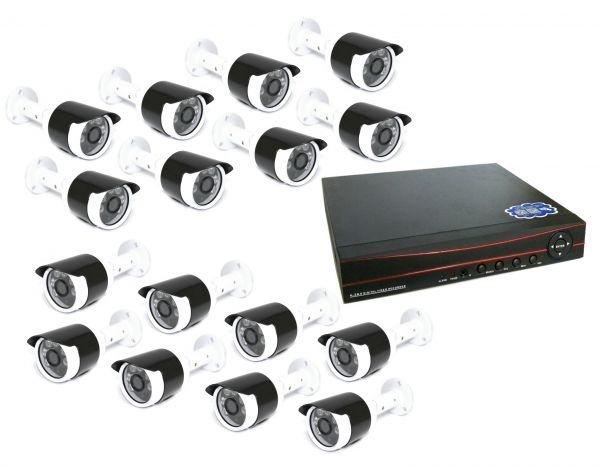 16-ти канальный уличный комплект видеонаблюдения XPX 3916 AHD 2Mp