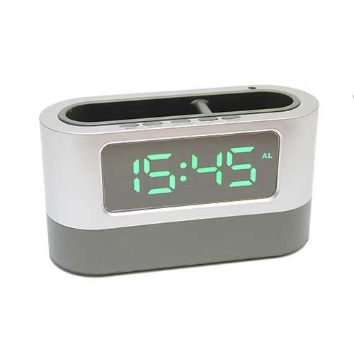 Электронные часы 105L (подставка органайзер) зеленый циферблат