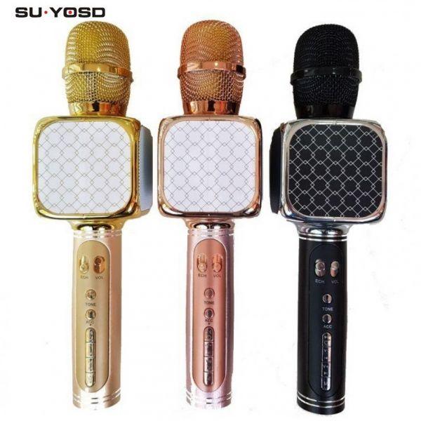 Микрофон-караоке с динамиками SU·YOSD YS-69 (Bluetooth, USB, TF, AUX)