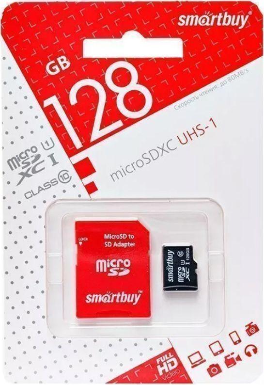 Карта памяти 128GB microSDXC Class10 SMARTBUY