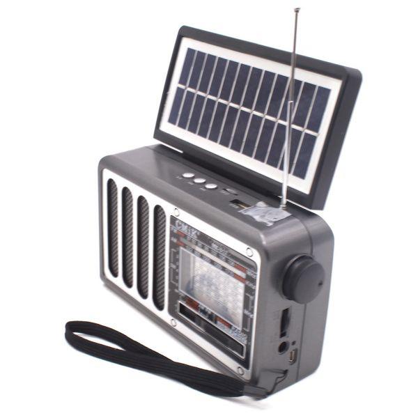 Радиоприемник CMiK MK-617 Bluetooth\USB\microSD\Фонарь\с Солнечной батареей
