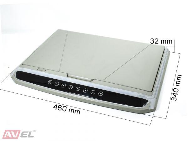 """Потолочный монитор 17,3"""" со встроенным Full HD медиаплеером AVS1707MPP (серый)"""