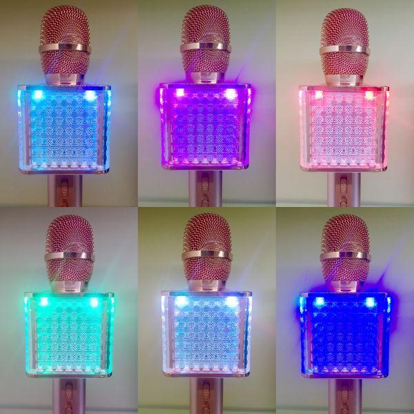 Bluetooth микрофон-караоке с подсветкой и динамиками YS-86