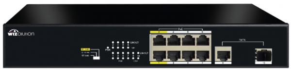 Коммутатор PoE с 8 портами PoE FE, 1 портом GbE RJ45 и 1 портом GbE SFP с функцией EX WZNN-SW.08.EP.120.1