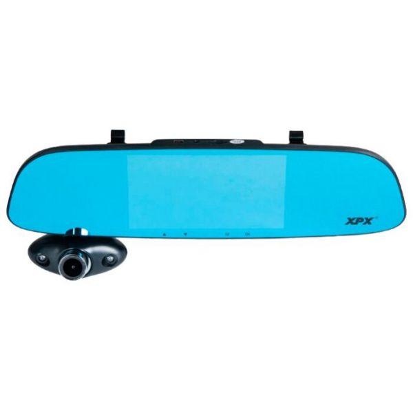 Автомобильный видеорегистратор-зеркало XPX ZX816 с тремя камерами