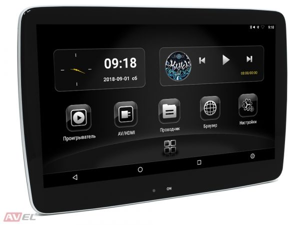"""Навесной монитор на подголовник с сенсорным экраном 11,6"""" на Android AVS1189AN (#01)"""
