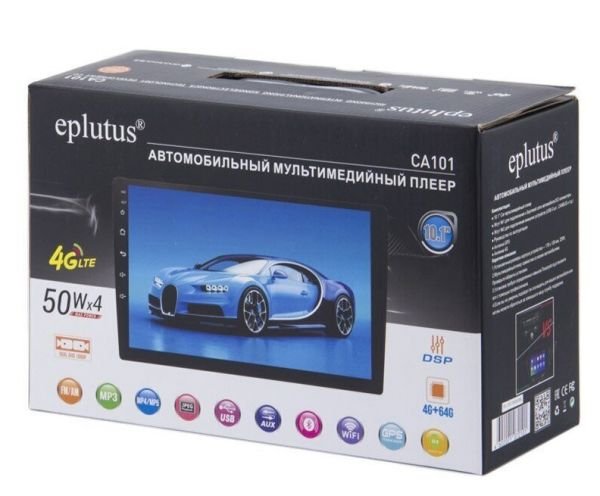 Автомагнитола Eplutus CA101 на базе Android 10.0 (4/64 Gb) 4G LTE