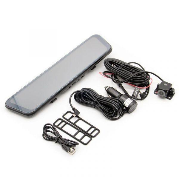 """Автомобильный видеорегистратор-зеркало с 2-мя камерами Eplutus D87 12"""""""