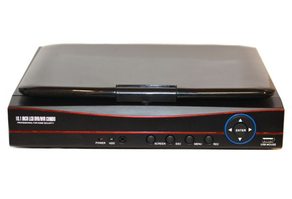 Видеорегистратор со встроенным монитором Recorder L1004F четырехканальный