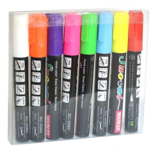 Флуоресцентные маркеры комплект 8 шт