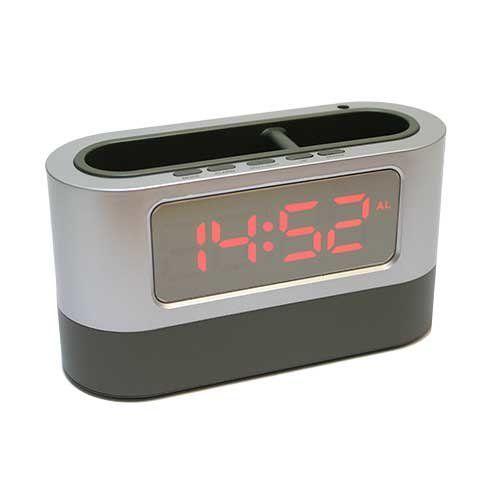 Электронные часы 105L (подставка органайзер) красный циферблат