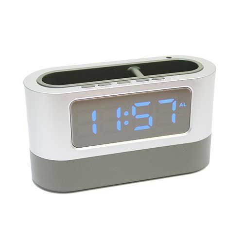 Электронные часы 105L (подставка органайзер) синий циферблат