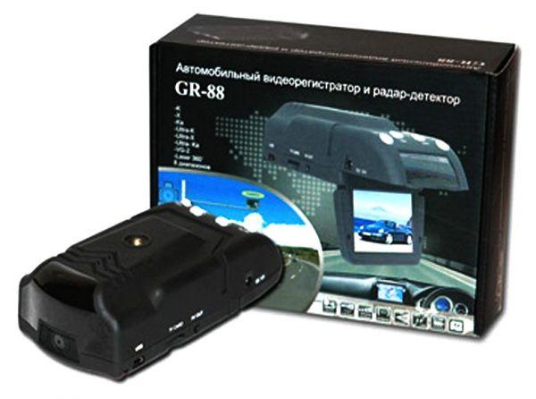 Видеорегистратор с функцией антирадара (радар детектора) и GPS позиционирования Eplutus GR-88