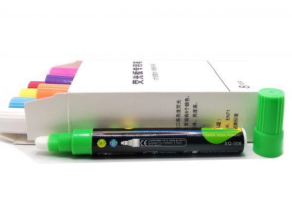 Флуоресцентные маркеры комплект 8 шт для LED досок SQ-006