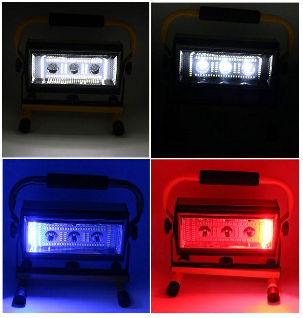 Фонарь-прожектор светодиодный аккумуляторный YYC WJ001-1 с Power Bank