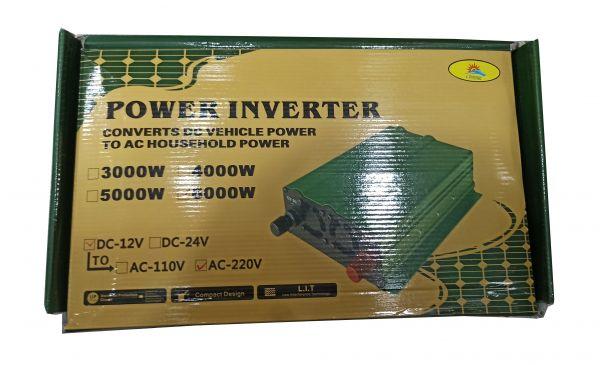 Автомобильный инвертор Солнце 6000W 12V-220V