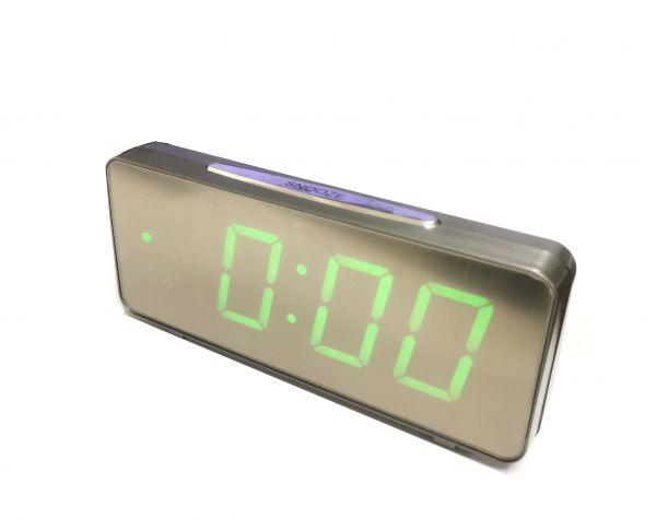 Электронные часы VST 763-4 зеркальные (ярко зеленый)