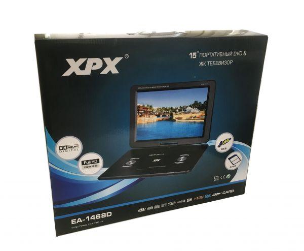 """Портативный DVD плеер XPX EA-1468D (15"""") с цифровым тюнером DVB-T2"""