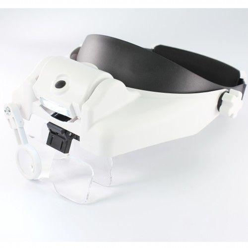 Бинокулярные очки 3 Led Helmet Magifier MG82000M