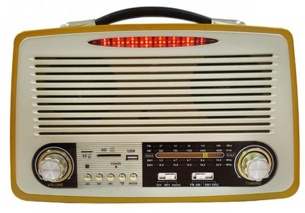 Портативная ретро колонка с акб Kemai MD-1700U Retro