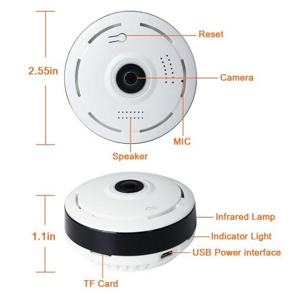 Панорамная IP камера EA-650SS Wi-Fi