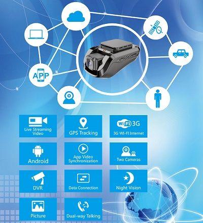 Автомобильный видеорегистратор JC100 3G GPS