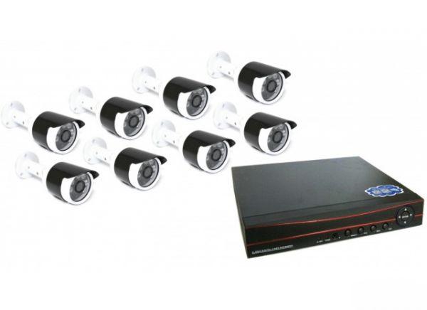 8-ми канальный уличный комплект видеонаблюдения XPX 3908 AHD 5Mp