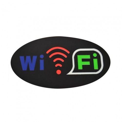 Светодиодная Эпоксидная Табличка «Wi-Fi» (43х23 см)