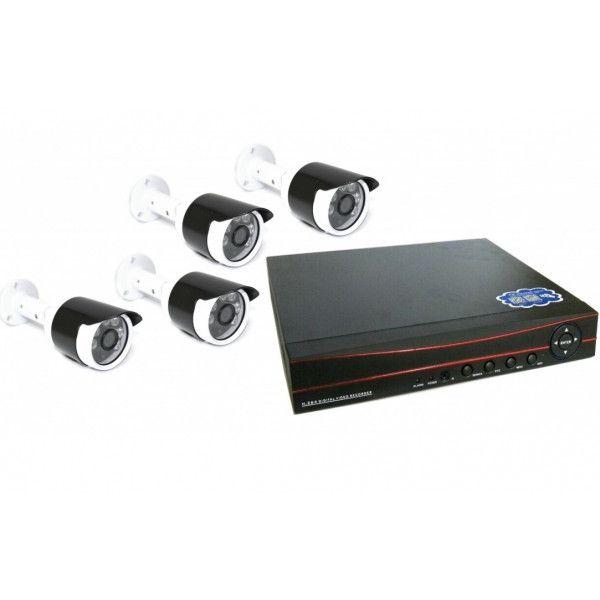 4-х канальный уличный комплект видеонаблюдения XPX 3904 AHD 5Mp