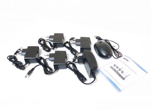 Беспроводной 4-х канальный уличный комплект видеонаблюдения WiFi XPX 3704 AHD 1Mp