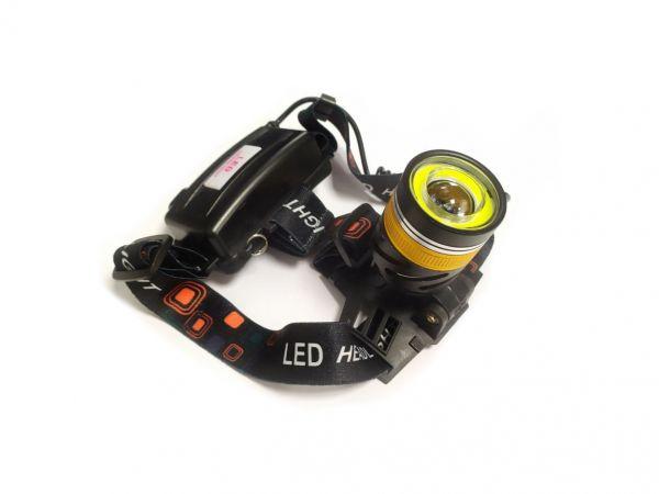 Налобный фонарь HT-573 + COB