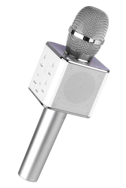 Bluetooth микрофон-караоке со встроенными динамиками Q7 Silver