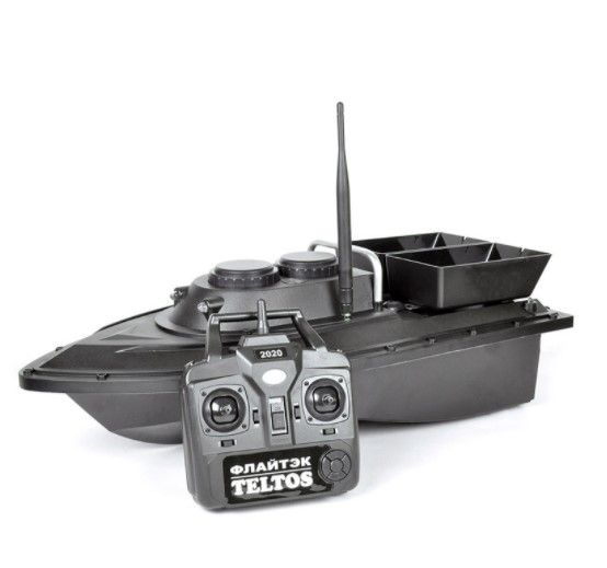 Прикормочный кораблик Флайтек ПРО + эхолот Lucky FF 718 Li-CD
