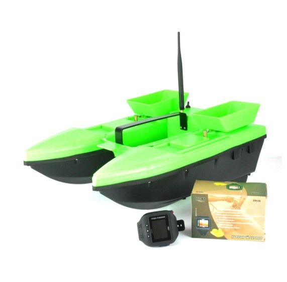 Прикормочный кораблик Телтос 3 + эхолот Lucky FF 518