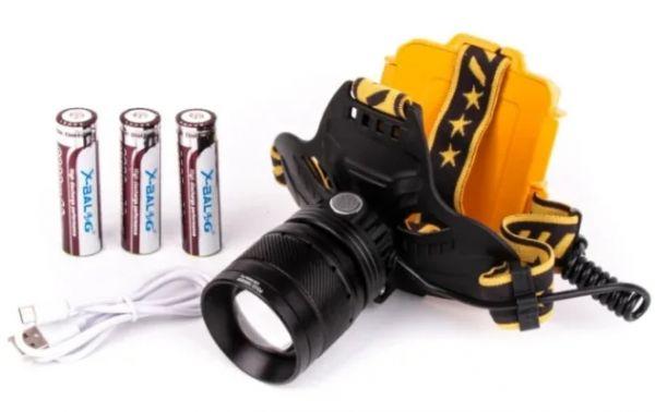Налобный фонарь High Power HeadLamp YYC-W648-P90 USB