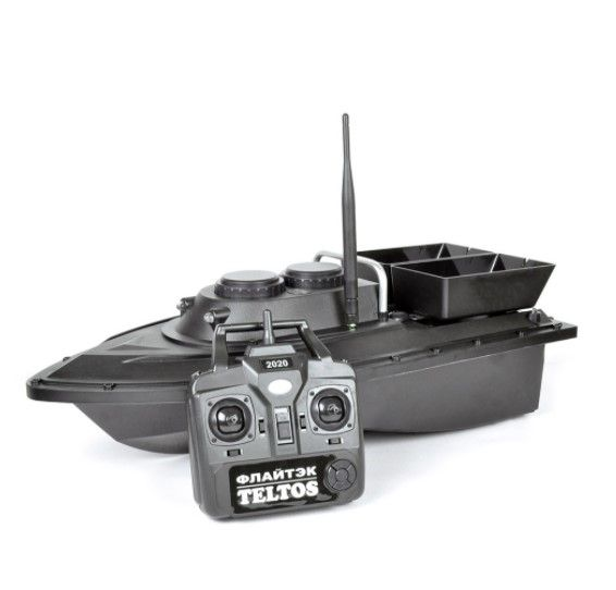 Прикормочный кораблик Флайтек PRO + Эхолот Lucky FF 718 LA