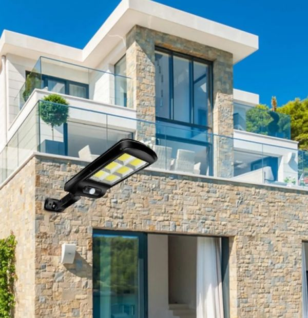 Уличный LED светильник YG-1422 с солнечной батареей и датчиком движения