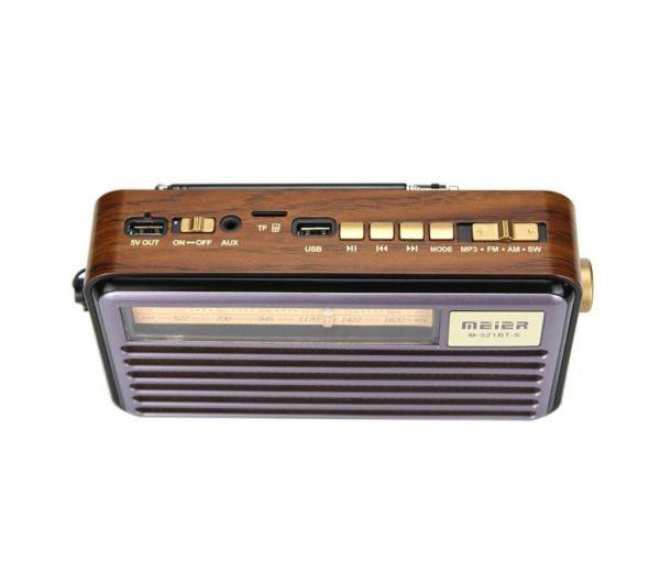 Радиоприемник Meier M-521BT-S