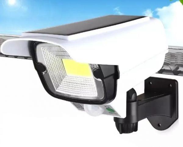 Муляж уличной камеры видеонаблюдения на солнечной батареи с подсветкой YYC-GY-2176 с пультом Д/У