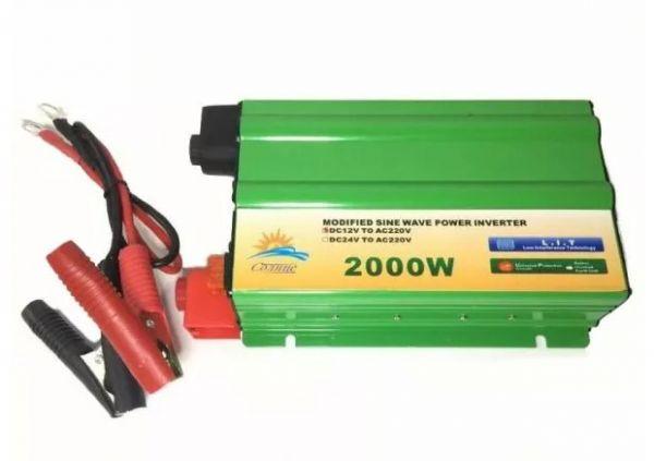 Автомобильный инвертор Солнце 2000W 24V-220V