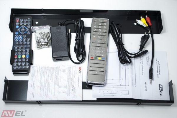 Телевизор в зеркале AVS245SM белая рамка