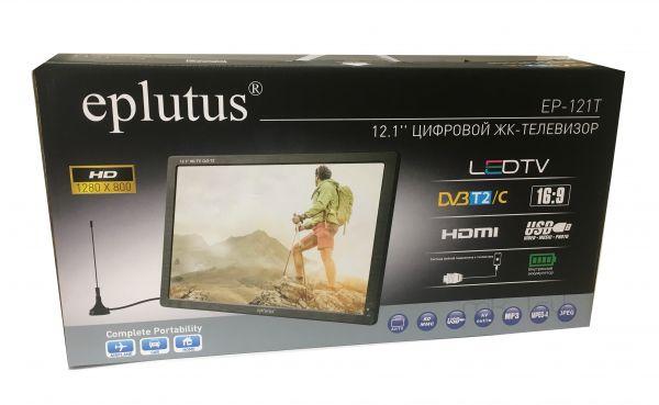 "Цифровой телевизор Eplutus EP-121T 12.1"" DVB-T2/ DVB-C"