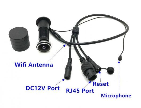 Видеоглазок дверной 861 iP Wi-Fi 1080P P2P